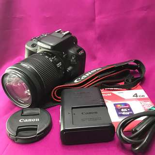 Canon eos 100d with 18-55mm and accessories