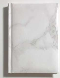 White marble notebook/diary