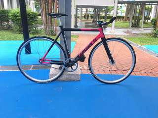 Engine 11 Sprinter 2016 Pink(Only 3 in Sg) Cinelli,Colossi,Skream,Aventon,Leader,Unknown,Engine 11,Airwalk,Constantine,Sugino,Sram omnium,Hplusson,Miche pistard,Throne,8bar,Fixie,Fixed gear,A2,Bicycle,Mavic Ellipse,Rinpoch,Masi,Dosnoventa,Ingria,Throne