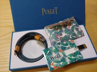 Piaget iPhone Lightning to USB Cable & USB Card