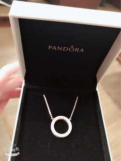 Pandora rose gold 全新頸鏈