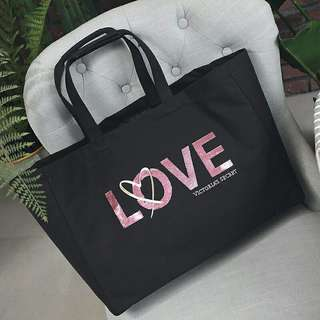 AUTHENTIC VS CANVAS SHOULER TOTE  IN SEQUIN SIGNATURE LOGO BRAND