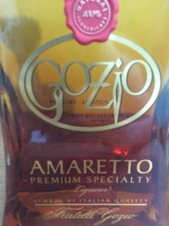 gozio amaretto almond alcohol