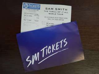Sam Smith The Thrill of It All Manila