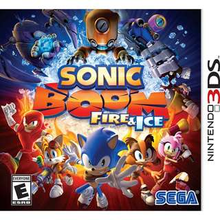 [NEW NOT USED]  3DS Sonic Boom: Fire & Ice Nintendo Platform Games SEGA