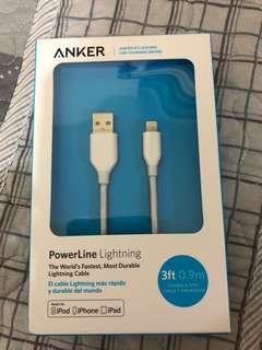Anker 3ft 0.9m charging cable mfi iPod iPad iPhone 充電線