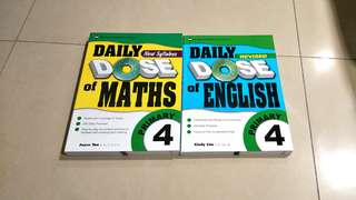 brand new P4 Daily Dose Maths & English Educational Publishing House (EPH) Primary 4