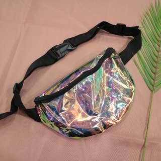 鐳射透明造型腰包中性側背包