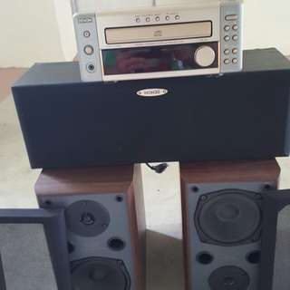 DENON UD-M3 AM/FM RECEIVER WITH CD PLAYER BUILT.IN.With speaker whole set