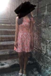 Pink Off Shoulder Dress (casual or semi-formal)