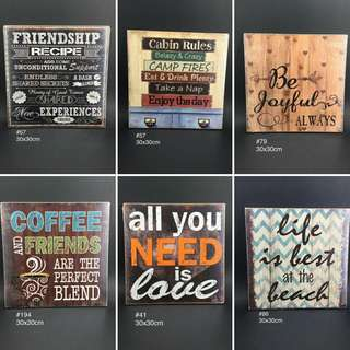 Wooden wall decor