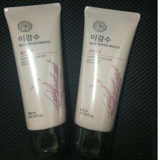 THE FACE SHOP RICE WATER BRIGHT CLEANSING FOAM 150ML