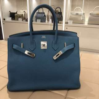 Hermes birkin 35 turquoise
