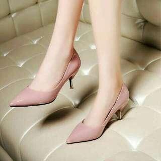 High heels pink ukuran 38 tinggi 5cm