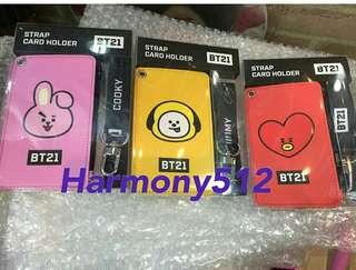BTS BT21 strap card holder Chimmy