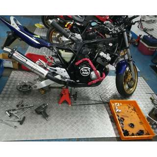 Service Carburetor & Tuning + Throttle Cable
