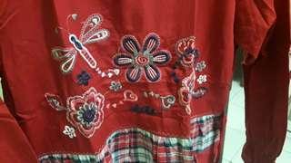 Baju Muslim Merah Anak Perempuan