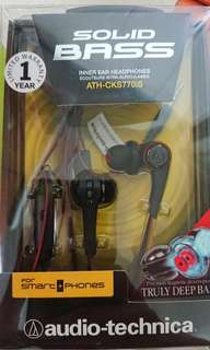 Audio Technica solid bass earphones