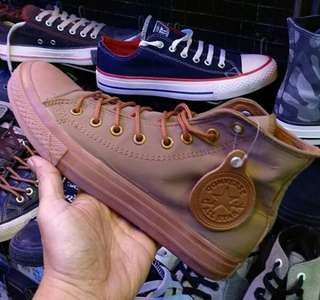 Converse all star hig kulit import good Quality