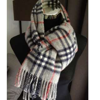 Authentic BURBERRY London 100% Wool Scarf Shawl