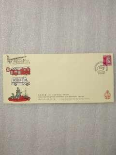1993年 香港消防處125周年紀念 首日封