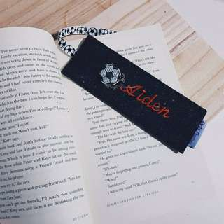 Embroidery bookmark.
