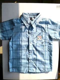 NEW F&F Boy's Light Blue Checks Short Sleeves Shirt - in perfect condition