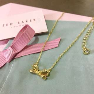 (NEW) Ted Baker Mini Bow Pendant Necklace