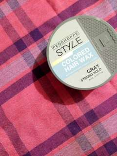 Penshoppe Style Colored Hair Wax (Gray)