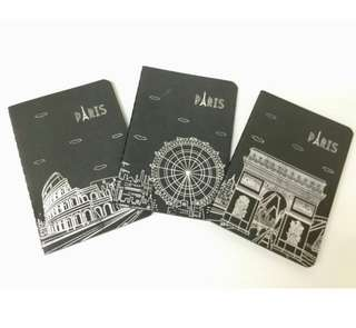 PARIS BLACK NOTEBOOK 1 pc