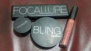 (Free ongkir) Focallure makeup set (eyeshadow, highlight&contour, eyebrowpomade, lipstik)