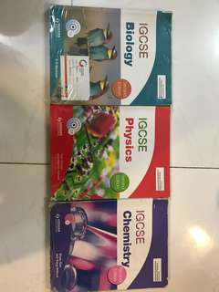 IGCSE Biology, Chemistry and Physics Textbooks, Second edition