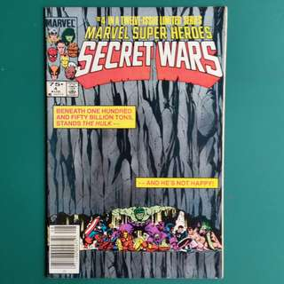Marvel Super Heroes Secret War No.4 comic