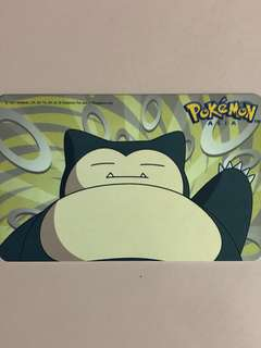 Limited edition brand new Pokémon Asia Snorlax design Ezlink card for $18.