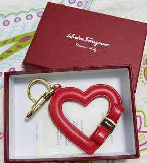 全新Salvatore Ferragamo全皮Key Chain