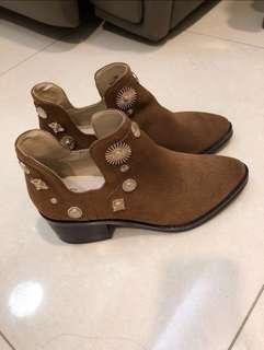 I.t shoes boots 啡色短靴