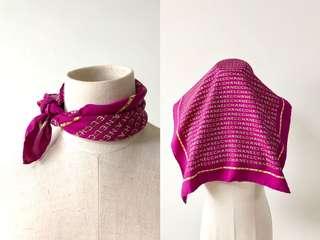 💯真品 Auth Chanel 100% silk scarf 桃紅色經典高貴優雅真絲圍巾絲巾