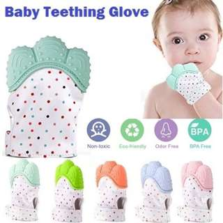 🚚 Baby teething mitten glove | Teether | Baby Teether