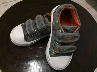 Mothercare Dark Gray Sneakers with Colorful Dinosaurs