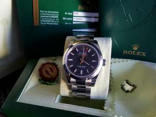 ROLEX MILGAUSS 116400 BLACK DIAL 40MM (888)