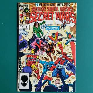 Marvel Super Heroes Secret Wars No.5 comic