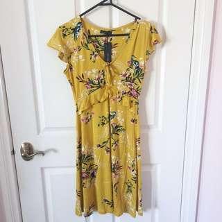 Mustard floral dress (BNWT)