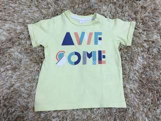 "H&M Light Yellow ""Awesome"" Shirt"
