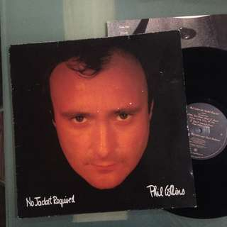 Lp Phil Collins (No Jacket Required) - piring hitam/vinyl