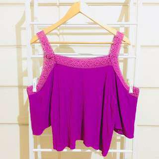 Mags Laced Cold Shoulder Top