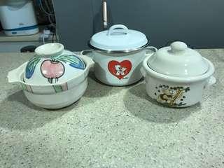 Mini claypot/ Single soup bowl / Serving kitchenware