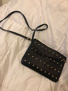 Black Sling bag with studs