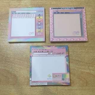 Aesthetic Pink Memo Pads