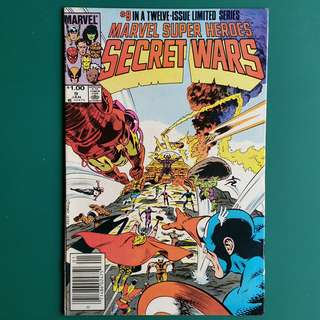 Marvel Super Heroes Secret Wars No.9 comic