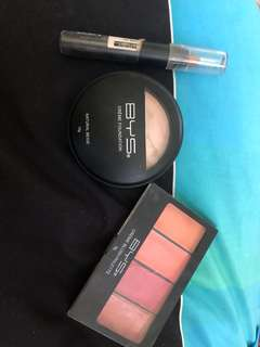 Bys Creme blush, creme foundation and contour stick